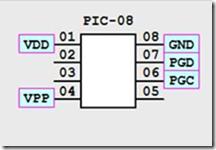PIC12F683 connecten met de PICKIT2